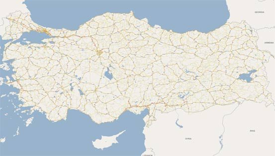 Quick view of Istanbul City  travel map